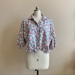 '80s / Garden Party Puff Sleeve Blouse